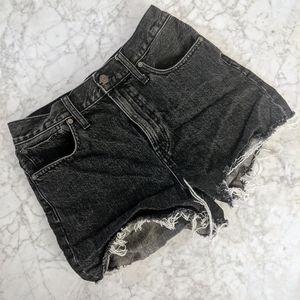 Madewell The Perfect Jean Short in Washed Black